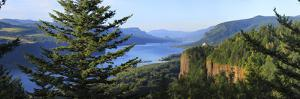 Observatory at a Hill, Crown Point Vista House, Crown Point, Columbia River Gorge, Multnomah Cou...