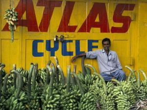 Bananas for Sale in the Market, Karnataka, India by Occidor Ltd