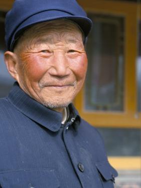 Portrait of a Han Farmer, Near Xining, Qinghai, China by Occidor Ltd