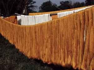 Silk Drying, Domestic Industry, Thailand, Southeast Asia by Occidor Ltd