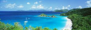 Ocean, Beach, Water, Trunk Bay, St. John, Virgin Islands, West Indies