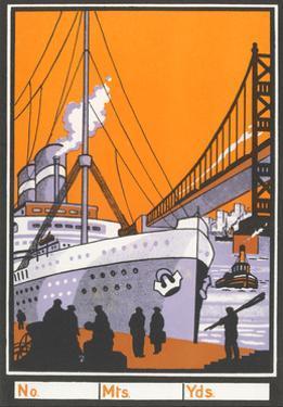 Ocean Liner by Bridge