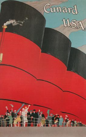 Ocean Liner Funnels, Cunard