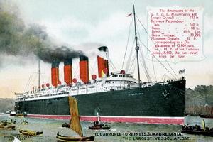Ocean Liner RMS Mauretania, 20th Century