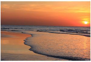 Ocean Sunset (Beach) Art Poster Print