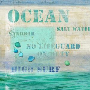 Ocean Wood Sign