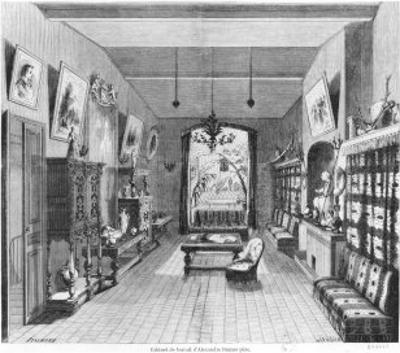 Study of Alexandre Dumas Pere