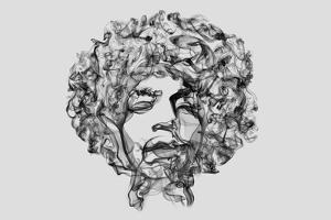 Jimi Hendrix Smoke by Octavian Mielu