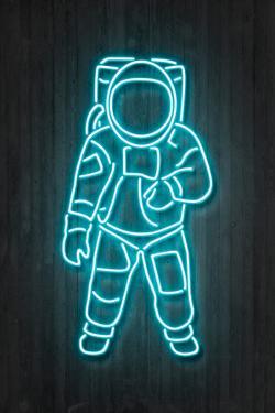 Neon Astronaut by Octavian Mielu