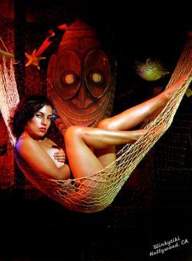 Pin-Up Girl: Carina Winkytiki by Octavio Arizala