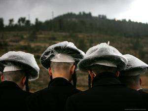 Ultra-Orthodox Maim Shelanoo Ceremony, Jerusalem, Israel by Oded Balilty