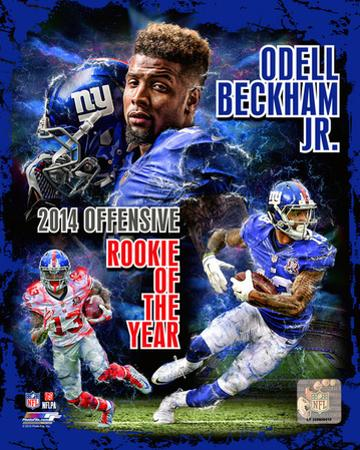 Odell Beckham Jr. 2014 NFL Offensive Rookie Of The Year Portrait Plus