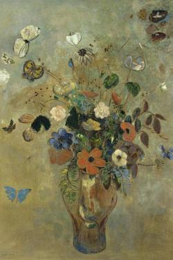 Bouquet of Flowers with Butterflies by Odilon Redon