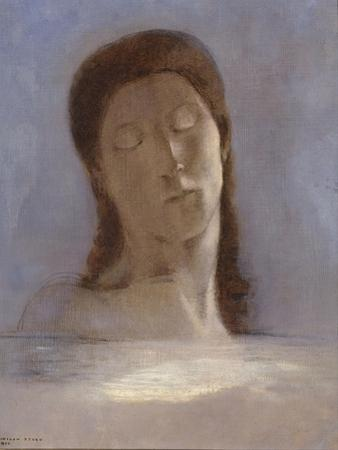 Closed Eyes, 1890 by Odilon Redon
