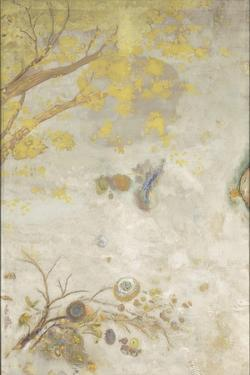 Décoration Domecy : la branche fleurie jaune by Odilon Redon