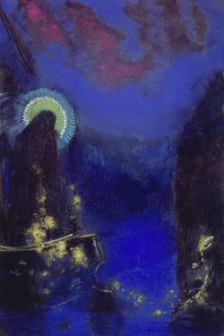 Die Hl, Jungfrau Mit Dem Heiligenschein by Odilon Redon