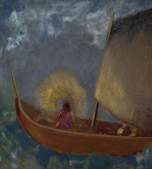 La Barque Mystique, c.1897 by Odilon Redon