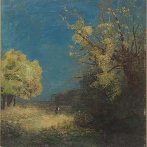 Le chemin à Peyrelebade by Odilon Redon