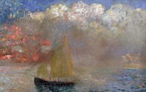 Le Voilier, 1900 by Odilon Redon