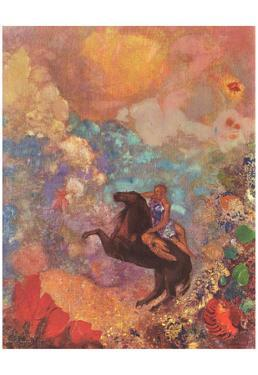 Odilon Redon (Muse on Pegasus) Art Poster Print