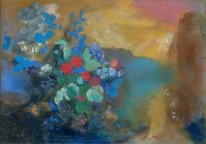 Ophelia Among the Flowers, C. 1907 by Odilon Redon