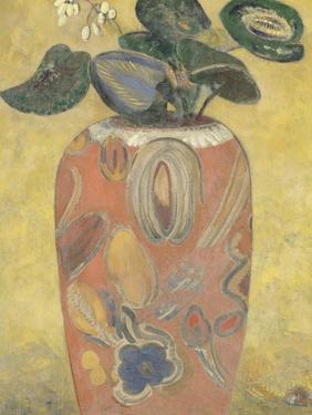 Plante verte dans une urne by Odilon Redon
