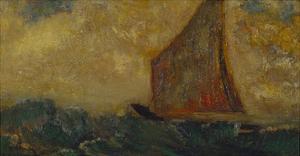 The Mystical Boat; La Barque Mystique by Odilon Redon