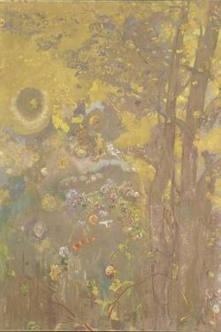 Trees on a Yellow Background, 1901 by Odilon Redon