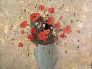 Vase of Poppies by Odilon Redon