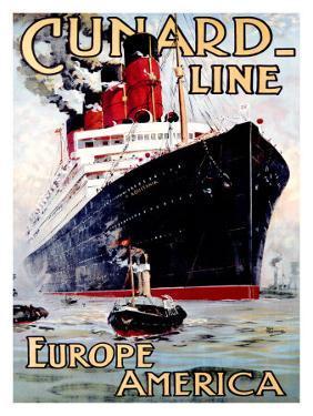 Cunard Line, Aquitania by Odin Rosenvinge