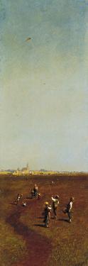 The Kite by Odoardo Borrani