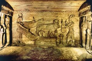 Offering Scene with the Sacred Bull, Apis