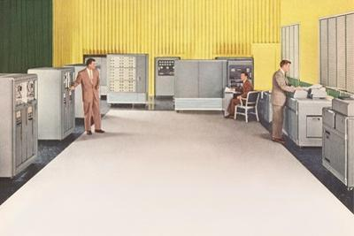 Office with Early Computer Equipment