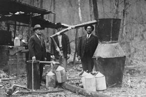 Officials Posing with Moonshine Still Apparatus