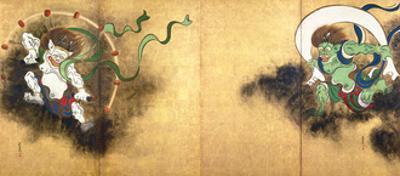 The Thunder God Raijin (left) and the Wind God Fujin (right), c.1700
