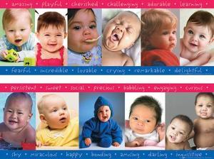 Oh Baby, 2 part laminated poster set
