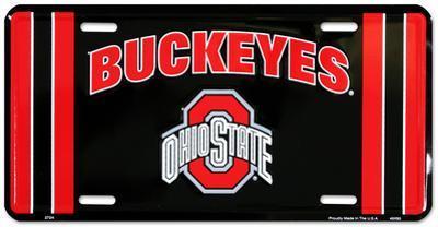 Ohio State Buckeye Black License Plate