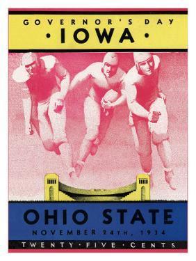 Ohio State vs. Iowa, 1934