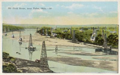 Oil Field Near Tulsa Oklahoma