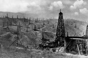 Oil Rigs Near Taft, California