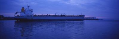 Oil Tanker Moored at a Harbor, Boston Harbor, Boston, Massachusetts, USA