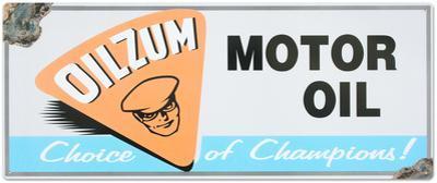 Oilzum Tin Sign