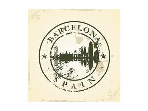 Grunge Rubber Stamp with Barcelona, Spain - Vector Illustration by ojal02