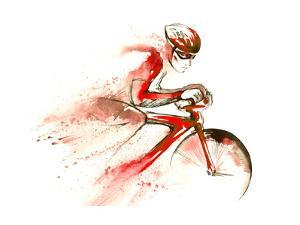 Racing Cyclist by okalinichenko