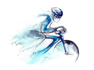 Racing Cyclist by okalinichenko