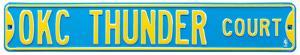 OKC Thunder Court Steel Sign