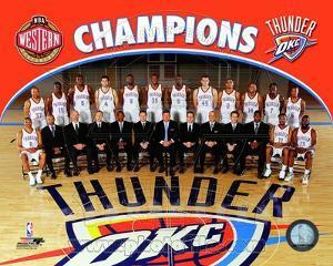 Oklahoma City Thunder 2011-12 NBA Western Conference Champions Team Photo