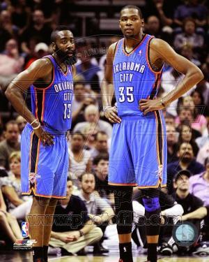 Oklahoma City Thunder - James Harden, Kevin Durant Photo