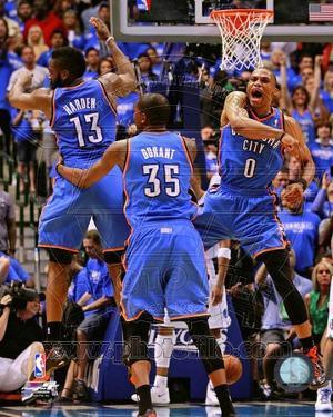 Oklahoma City Thunder - Russell Westbrook, James Harden, Kevin Durant Photo