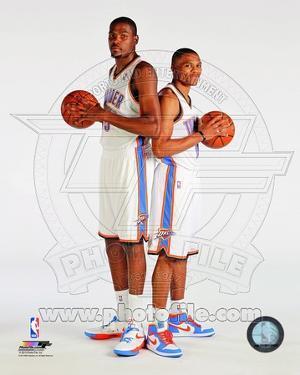Oklahoma City Thunder - Russell Westbrook, Kevin Durant Photo